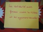 La solidarité avec femmes contre las violence et les agressims sexuelles.