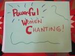 Powerful women chanting!