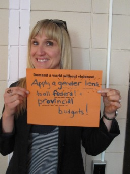 Apply a gender lens to all federal and provincial budgets.