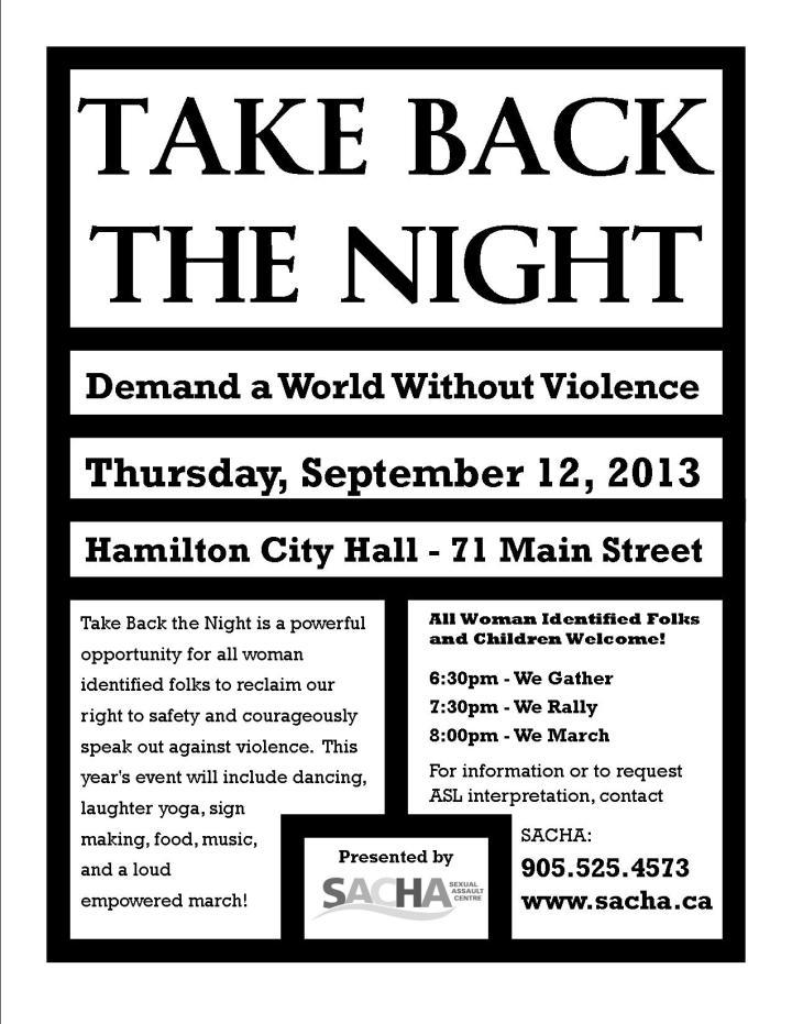 Take Back the Night Poster 2013 - English DRAFT