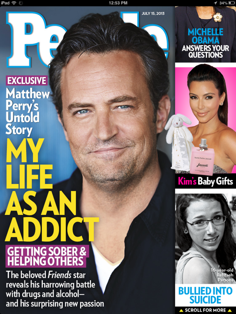Cover of People Magazine, July 15 2013, featuring Rethaeh Parsons
