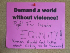 Fight for gender EQUALITY! Women should feel better about sticking up for themselves.