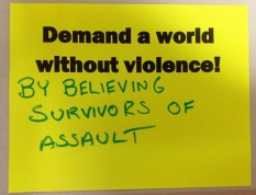 By believing survivors of sexual assault