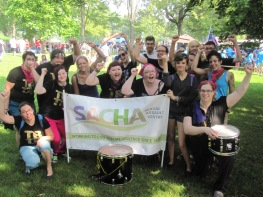 SACHA staff, volunteers and allies at Hamilton Labour Day 2013