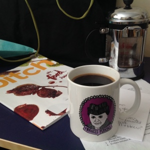 Bitch magazine Food Issue + Francis Perkins mug + Coffee ^_^