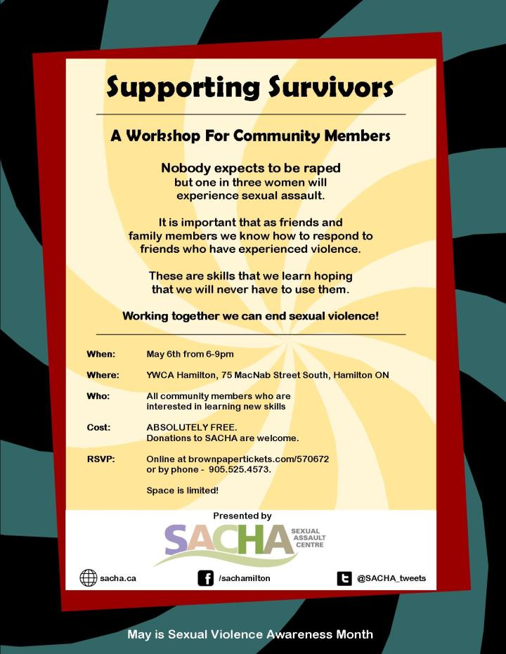 Supporting Survivors - May 6, 2014