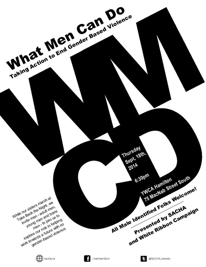 What Men Can Do - Male Allies Workshop - Thursday, September 18, 2014