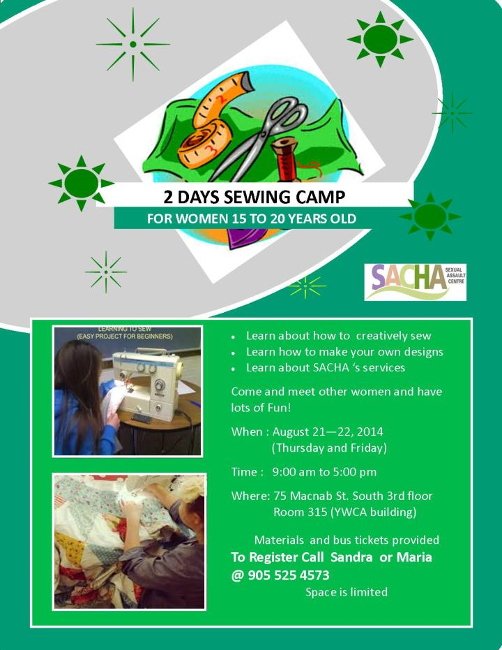 Youth Sewing Camp Flyer