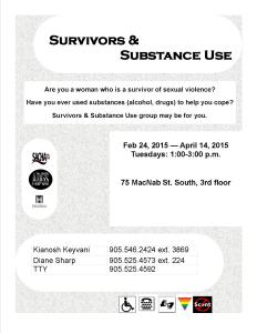 - Survivors  Substance Use women Feb 2014