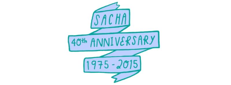 SACHA 40th Anniversary Banner for FB - green blue