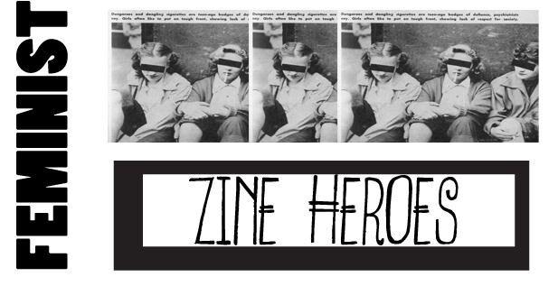 static zine banner - feminist heroes