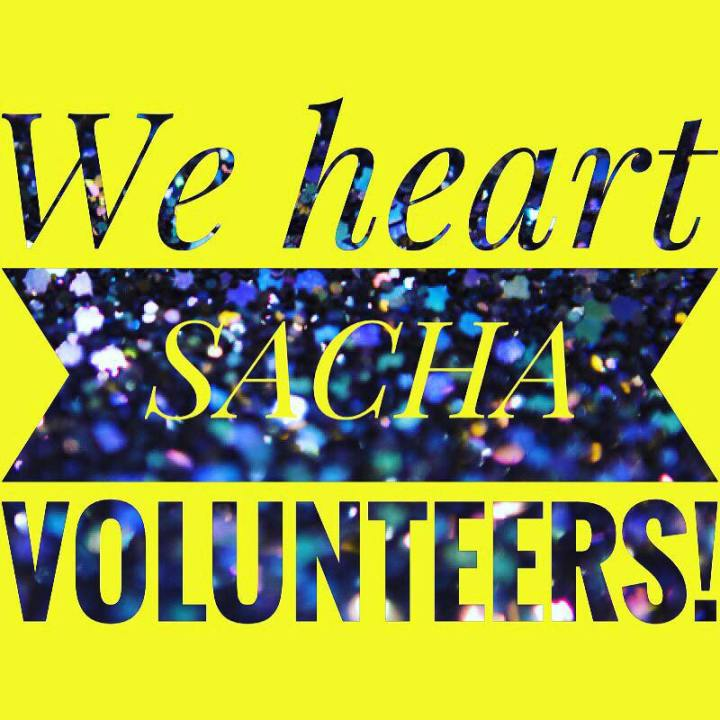 we heart sacha volunteers